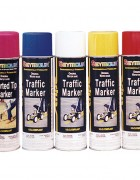 Stripe traffic aerosol cans